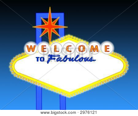 Blank Night Time Las Vegas Sign