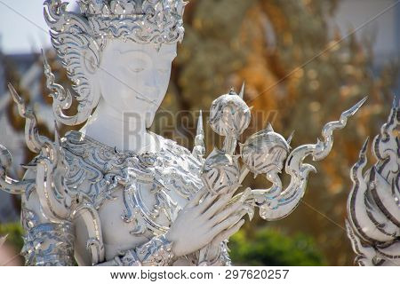 Chiang Rai Wat Rong Khun Another Name White Temple Is An Art Buddhist Temple In Chiang Rai Province,
