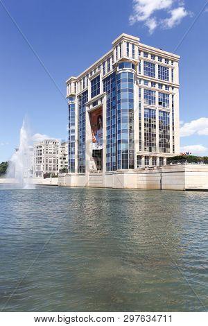 Montpellier, France - July 5, 2018: Hotel De Region Building In Montpellier, France. The Building Is