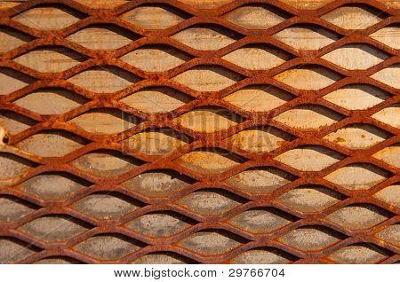 Rusty Crisscross Diamond Background Wood Board