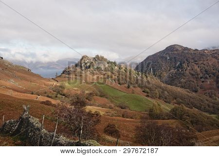 The Photograph Of Two Crags Castle Crag And Raven Crag Are Located In The North Western Fells Of The