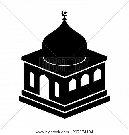 Mosque Icon Isolated On White Background, Mosque Icon Vector Image, Mosque Icon Trendy And Modern Mo