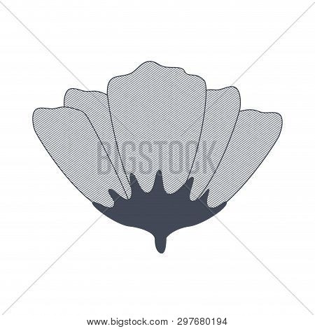 Flower With Sepal Isolated Icon Vector Illustration Design