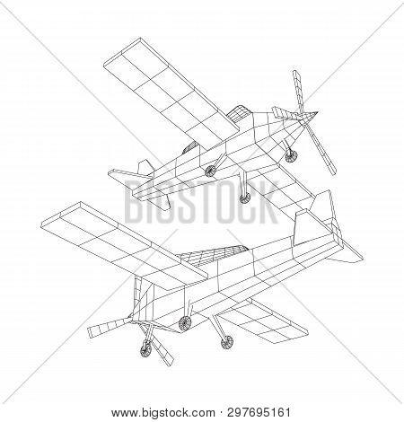Airplane Technical Diagram