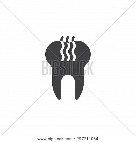 Unhealthy Tooth Vector Icon. Filled Flat Sign For Mobile Concept And Web Design. Stinky Tooth Glyph