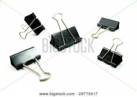 black paperclips