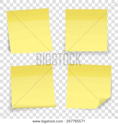 Creative Vector Illustration Of Post Note Papers Sticker Pin Isolated On Transparent Background. Tra