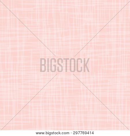 Contemporary Pastel Pink And White Watercolor Effect Subtle Texture. Vector Seamless Grid Pattern On