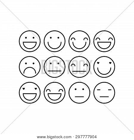 Emoticons Outline  Vector & Photo (Free Trial) | Bigstock