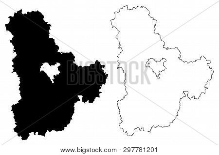 Kiev Oblast (administrative Divisions Of Ukraine, Oblasts Of Ukraine) Map Vector Illustration, Scrib