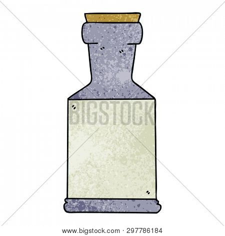 hand drawn quirky cartoon potion bottle poster