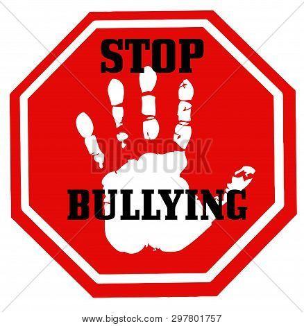 Stop Bullying School Aggression Abuse Violence Victim Illustration