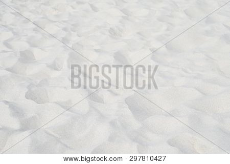 Pristine White Sand Beach Nature Background With Copy Space