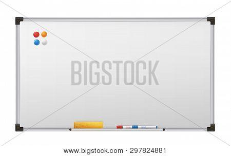 Clean Marker Board, Empty White Presentation Billboard
