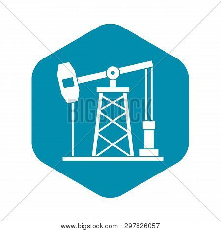 Oil Derrick Icon. Simple Illustration Of Oil Derrick Vector Icon For Web