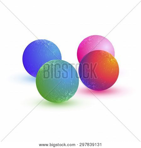 Abstract Sphere. Glowing Orb Glossy Colorful Abstract Sphere. Technology Sphere.