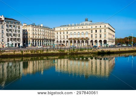 Bayonne, France - September 19, 2018: Bayonne Mairie Or City Hall In Bayonne Town In France