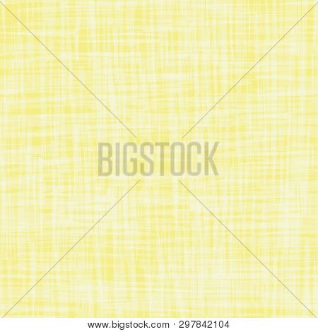 Contemporary Yellow Transparent Grid Water Color Effect Texture. Seamless Vector Pattern. Perfect Fo