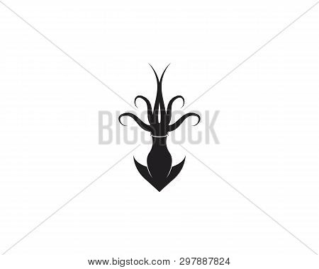 Squid Icon Silhouette Illustration