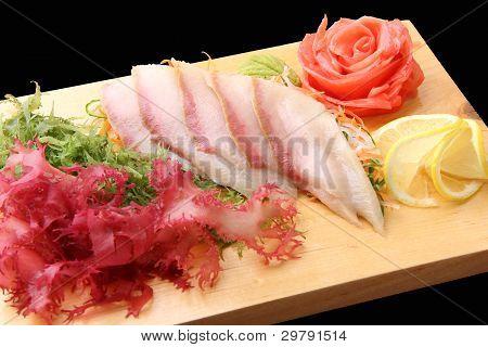 Sashimi Hamachi On A Board