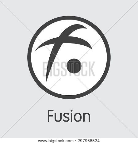 Fsn - Fusion. The Logo Of Virtual Currency Or Market Emblem.