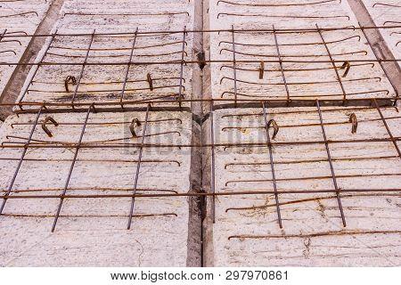 Construction Details: Precast Concrete Plank Of Pier, Before Topping Concrete, Under Construction, S