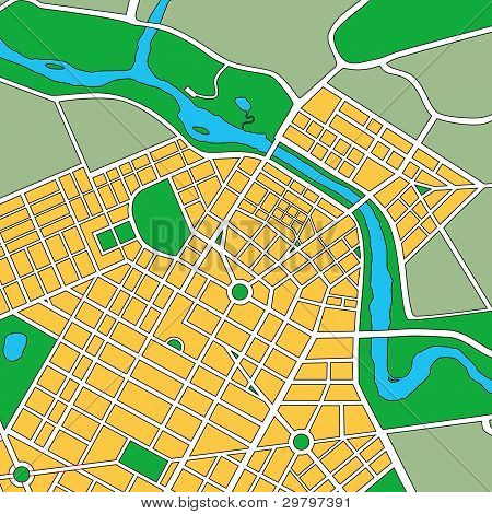 Map Of Generic Urban City