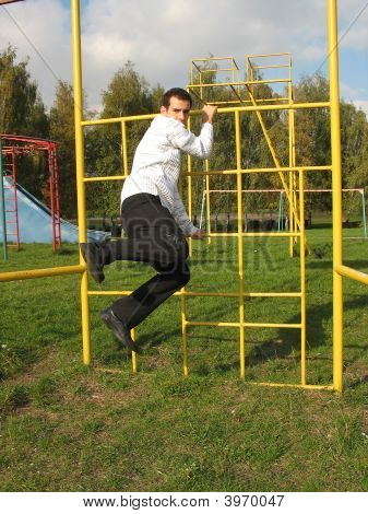 Man On The Playground