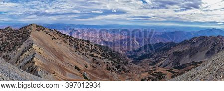 Provo Peak Views From Top Mountain Landscape Scenes, By Provo, Slide Canyon, Slate Canyon And Rock C