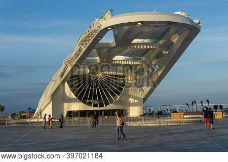 Rio De Janeiro, Brazil - November 23, 2014: View Of Museu Do Amanha (tomorrow Museum) At Praça Maua