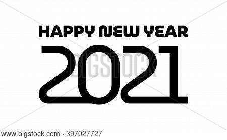 2021 Background. New Year 2021. Happy New Year 2021 Vector. Number 2021 In The Modern Concept. 2021