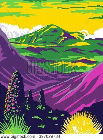 Wpa Poster Art Of Haleakala National Park In The Island Of Maui Named After Haleakala, A Dormant Vol