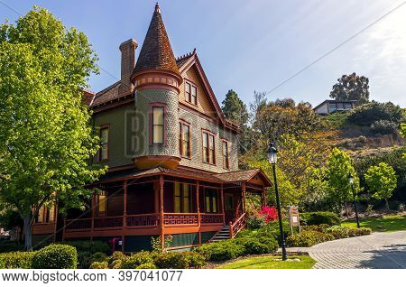 San  Diego, Ca - April 23,2014:historic House At Old Town Heritage Park,san Diego, California,usa.