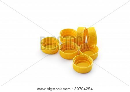 plastic bottles lids
