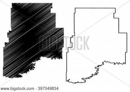 Valley County, Montana (u.s. County, United States Of America, Usa, U.s., Us) Map Vector Illustratio