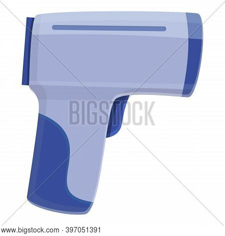 Pistol Digital Thermometer Icon. Cartoon Of Pistol Digital Thermometer Vector Icon For Web Design Is