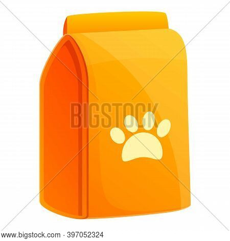 Cat Food Vitamine Icon. Cartoon Of Cat Food Vitamine Vector Icon For Web Design Isolated On White Ba