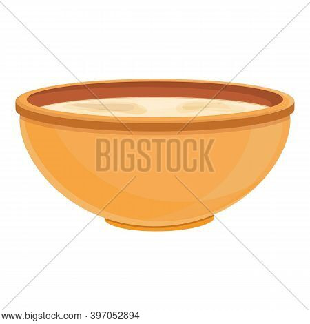 Turkish Bowl Soup Icon. Cartoon Of Turkish Bowl Soup Vector Icon For Web Design Isolated On White Ba