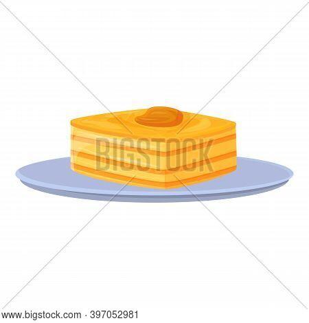 Turkish Cake Icon. Cartoon Of Turkish Cake Vector Icon For Web Design Isolated On White Background