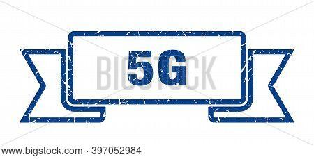 5g Ribbon. 5g Grunge Band Sign. 5g Banner