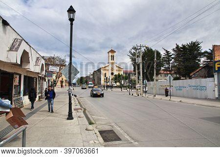 Punta Arenas, Patagonia, Chile - 20 Dec 2019: The Church In Punta Arenas, Patagonia, Chile