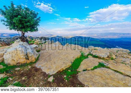Galilee Landscape View From Mount Arbel, Northern Israel