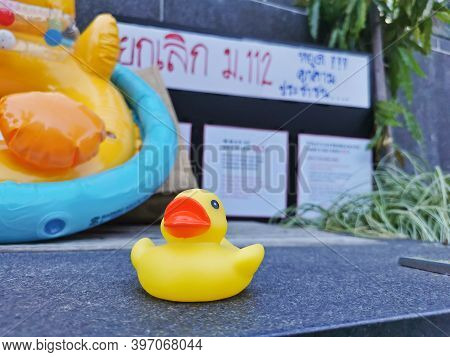 Brisbane, Australia - November 29, 2020: Yellow Rubber Duck Represents A Sympbol Of Innocent People