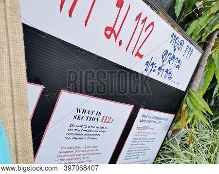Brisbane, Australia - November 29, 2020: Information Placard Shows Information About The Thai Crimin