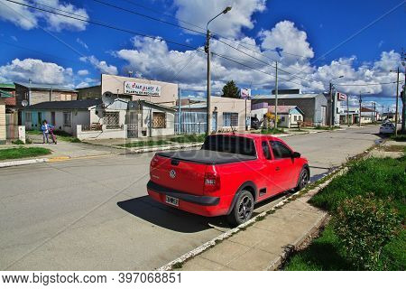 Rio Grande, Argentina - 21 Dec 2019: Rio Grande City In Tierra Del Fuego, Argentina