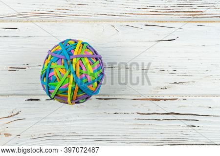 Rubber Band Ball.colorful Rubber Band Paper Bills