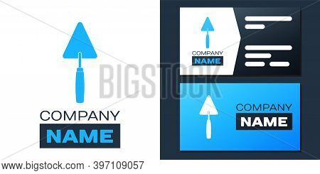 Logotype Trowel Icon Isolated On White Background. Logo Design Template Element. Vector