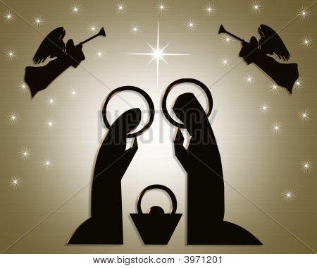 Christmas Nativity Scene abstract