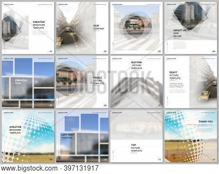 Brochure Layout Of Square Format Covers Design Templates For Square Flyer Leaflet, Brochure Design,