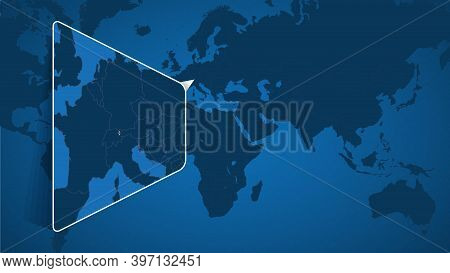 Location Of Liechtenstein On The World Map With Enlarged Map Of Liechtenstein With Flag. Geographica